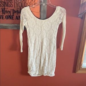 Lacey white Hollister dress